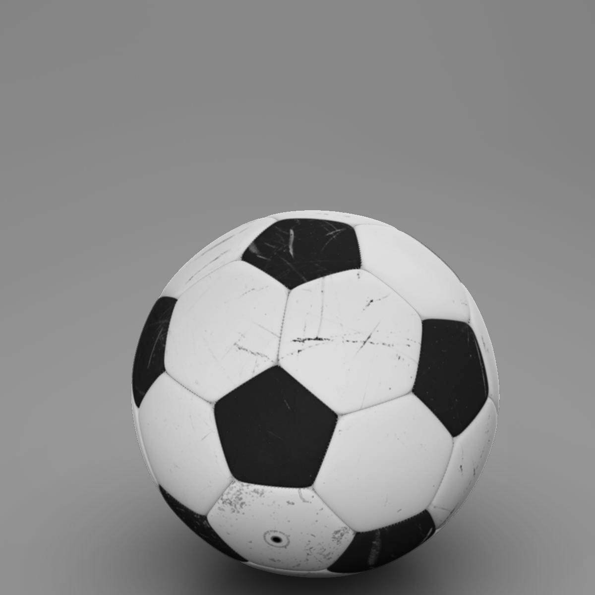 soccerball black white 3d model 3ds max fbx c4d ma mb obj 203955