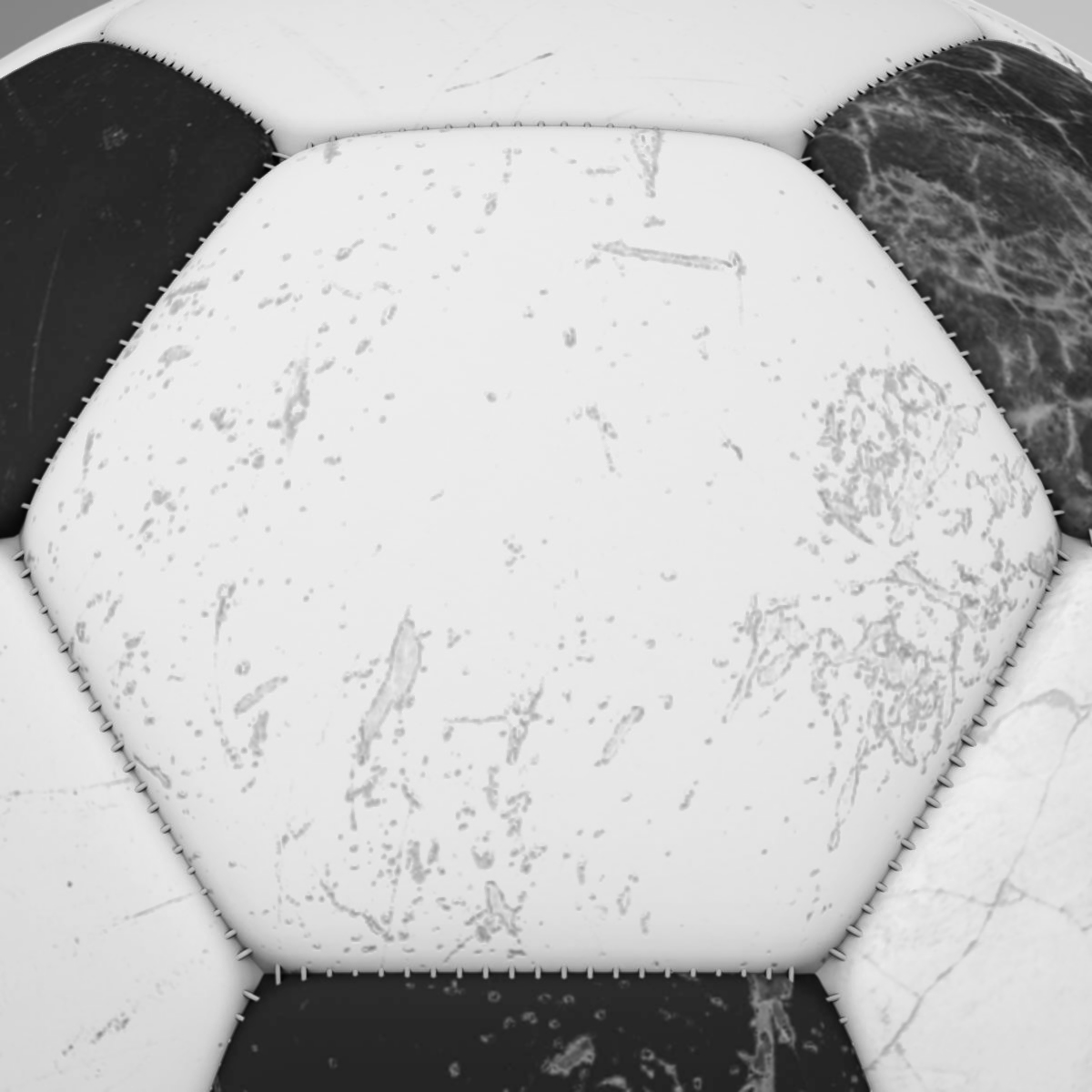 soccerball black white 3d model 3ds max fbx c4d ma mb obj 203956