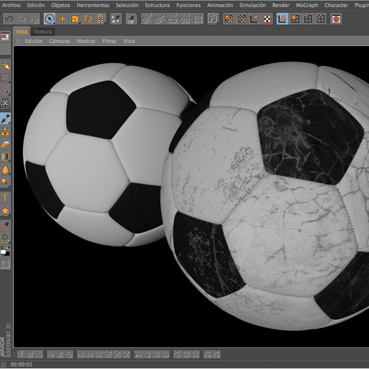soccerball black white 3d model 3ds max fbx c4d ma mb obj 203958