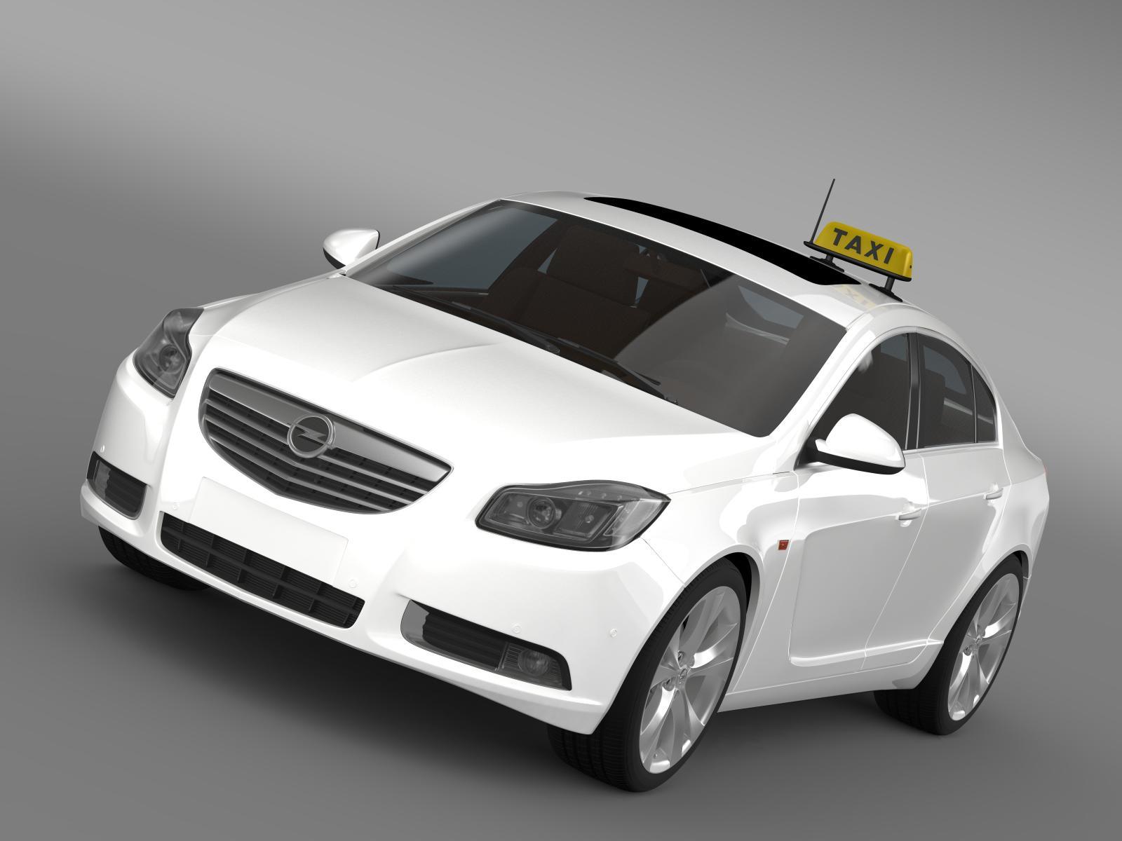 Opel Insignia Taxi 3d model 3ds max fbx c4d lwo ma mb hrc xsi obj 203961