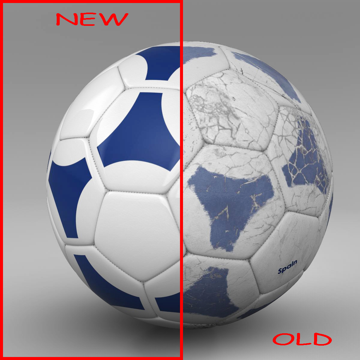 soccerball blue white 3d model 3ds max fbx c4d ma mb obj 203981