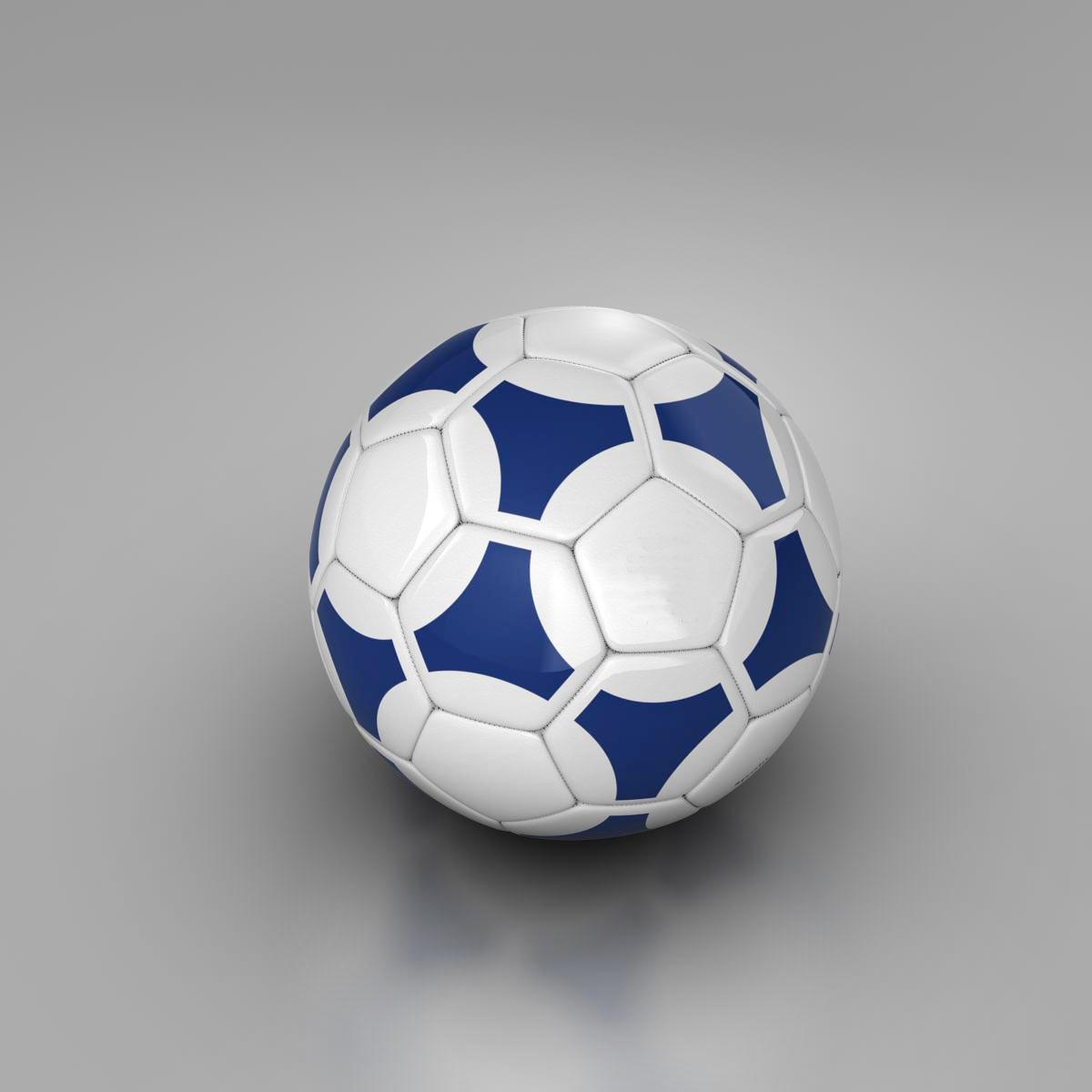 soccerball цэнхэр цагаан 3d загвар 3ds max fbx c4d ma mb obj 203983
