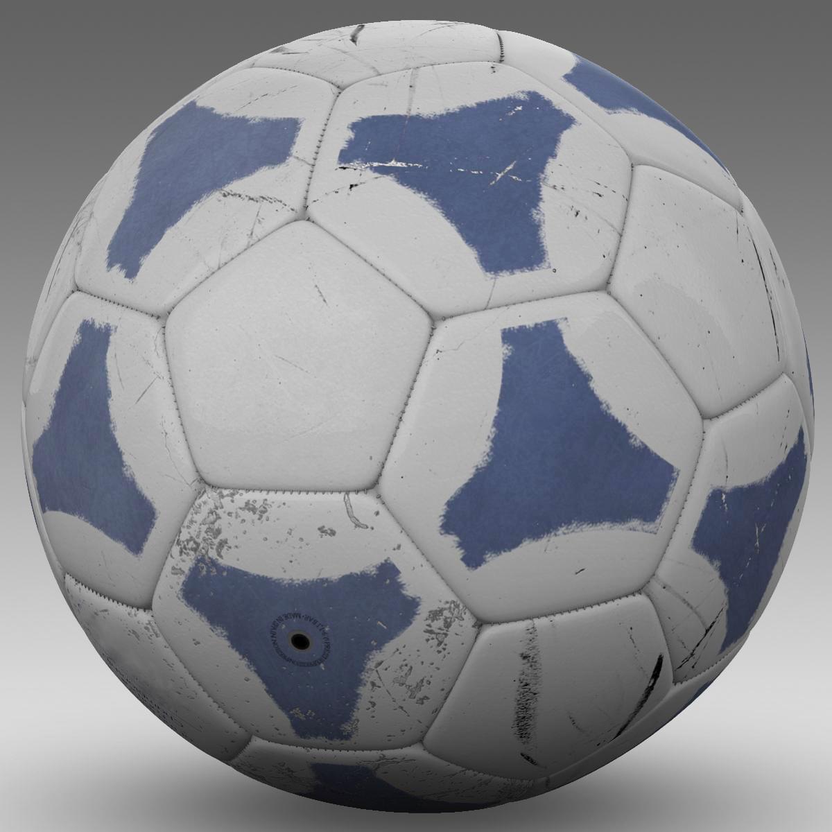soccerball цэнхэр цагаан 3d загвар 3ds max fbx c4d ma mb obj 203987