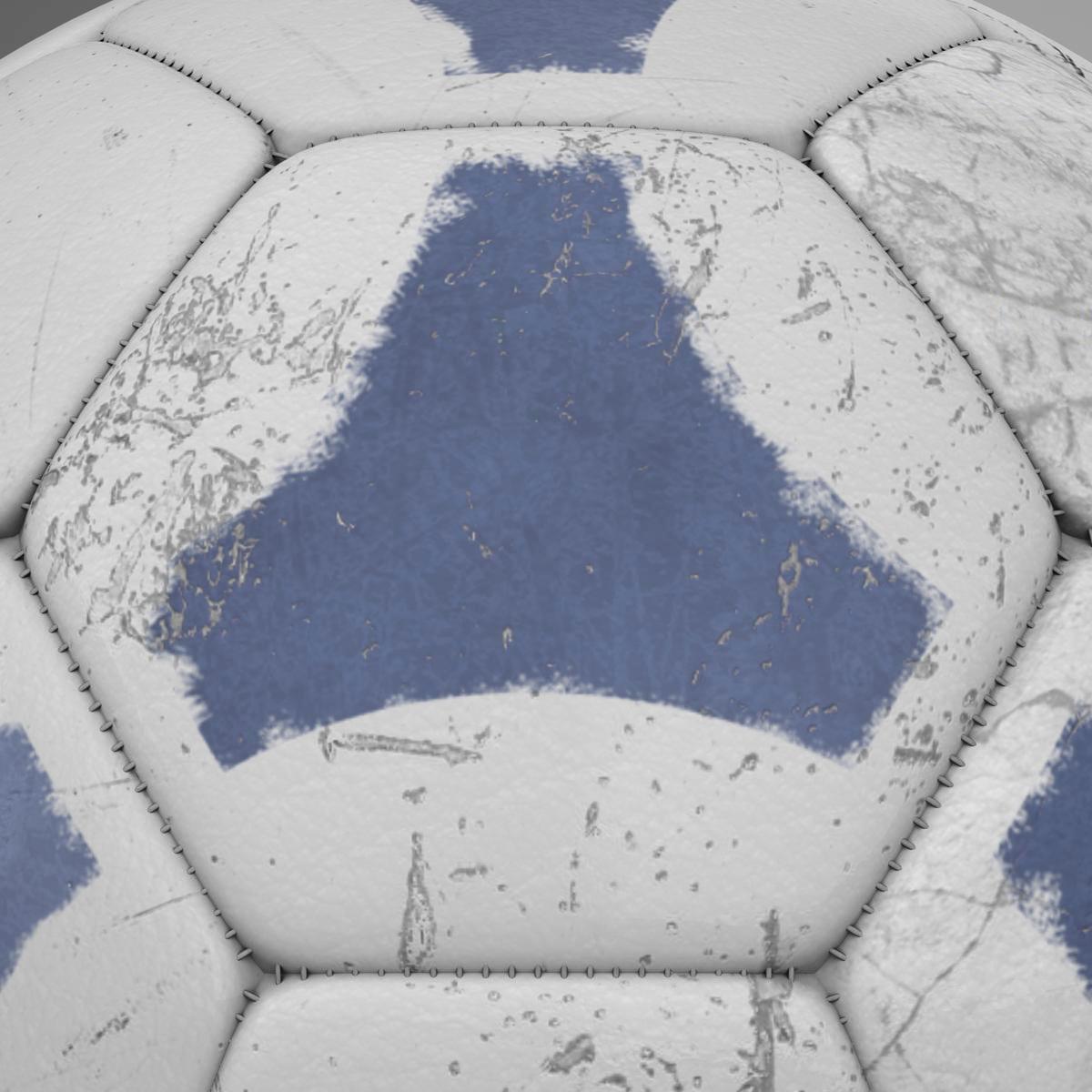 soccerball цэнхэр цагаан 3d загвар 3ds max fbx c4d ma mb obj 203989