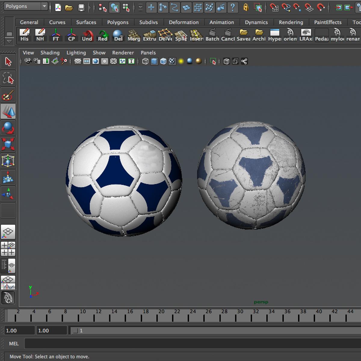 soccerball цэнхэр цагаан 3d загвар 3ds max fbx c4d ma mb obj 203990
