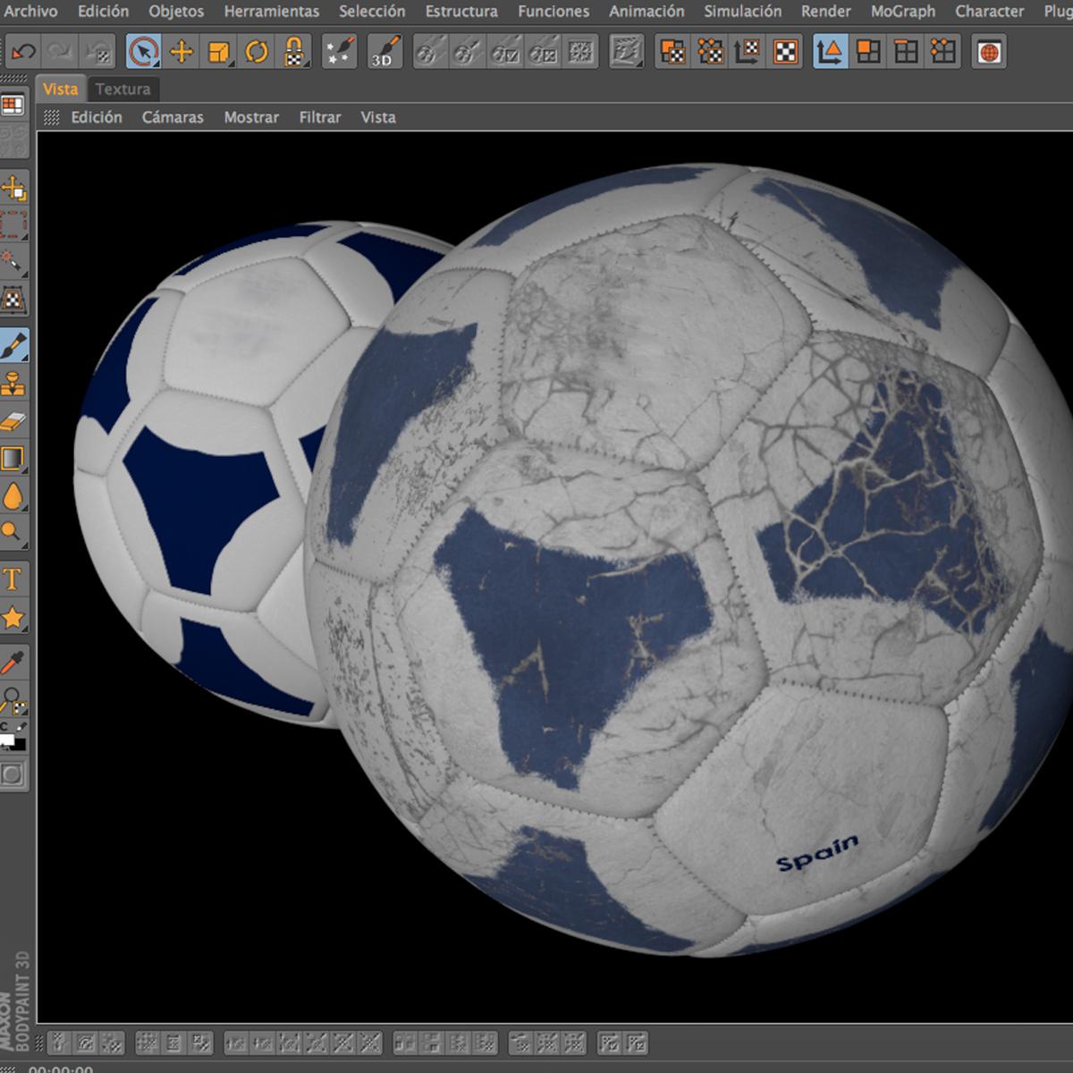soccerball цэнхэр цагаан 3d загвар 3ds max fbx c4d ma mb obj 203991