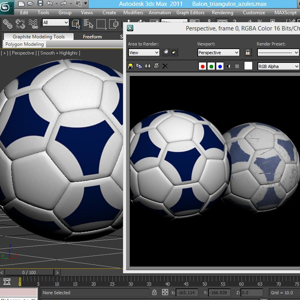 soccerball цэнхэр цагаан 3d загвар 3ds max fbx c4d ma mb obj 203992