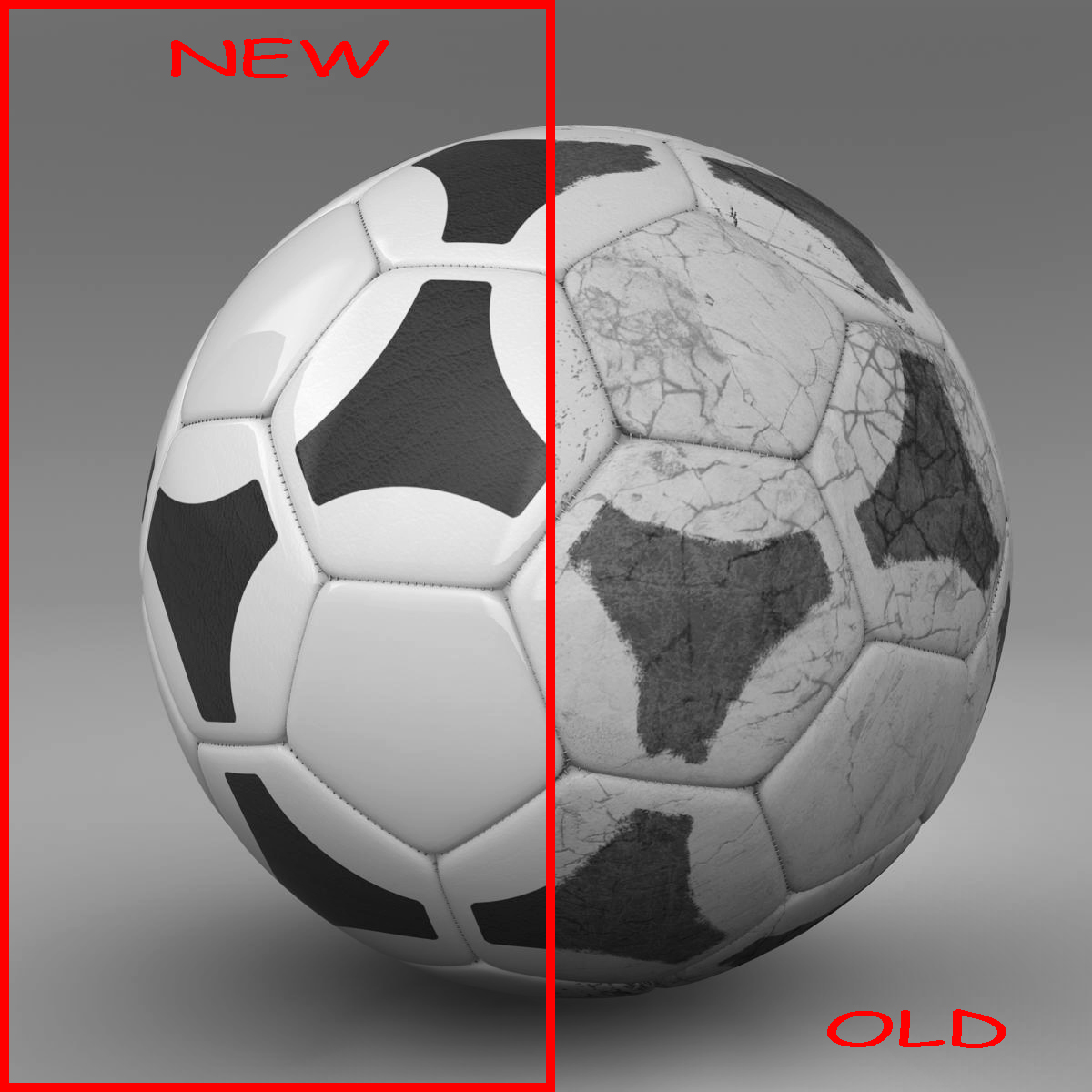 soccerball black white tri 3d model 3ds max fbx c4d ma mb obj 204047