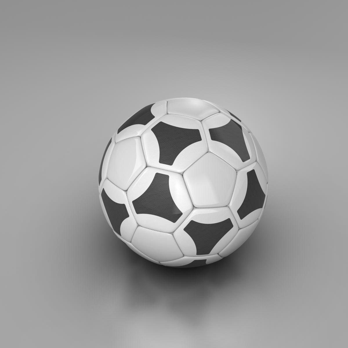 soccerball хар цагаан tri 3d загвар 3ds max fbx c4d ma mb obj 204049