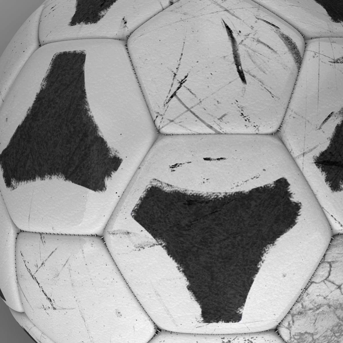 soccerball хар цагаан tri 3d загвар 3ds max fbx c4d ma mb obj 204050