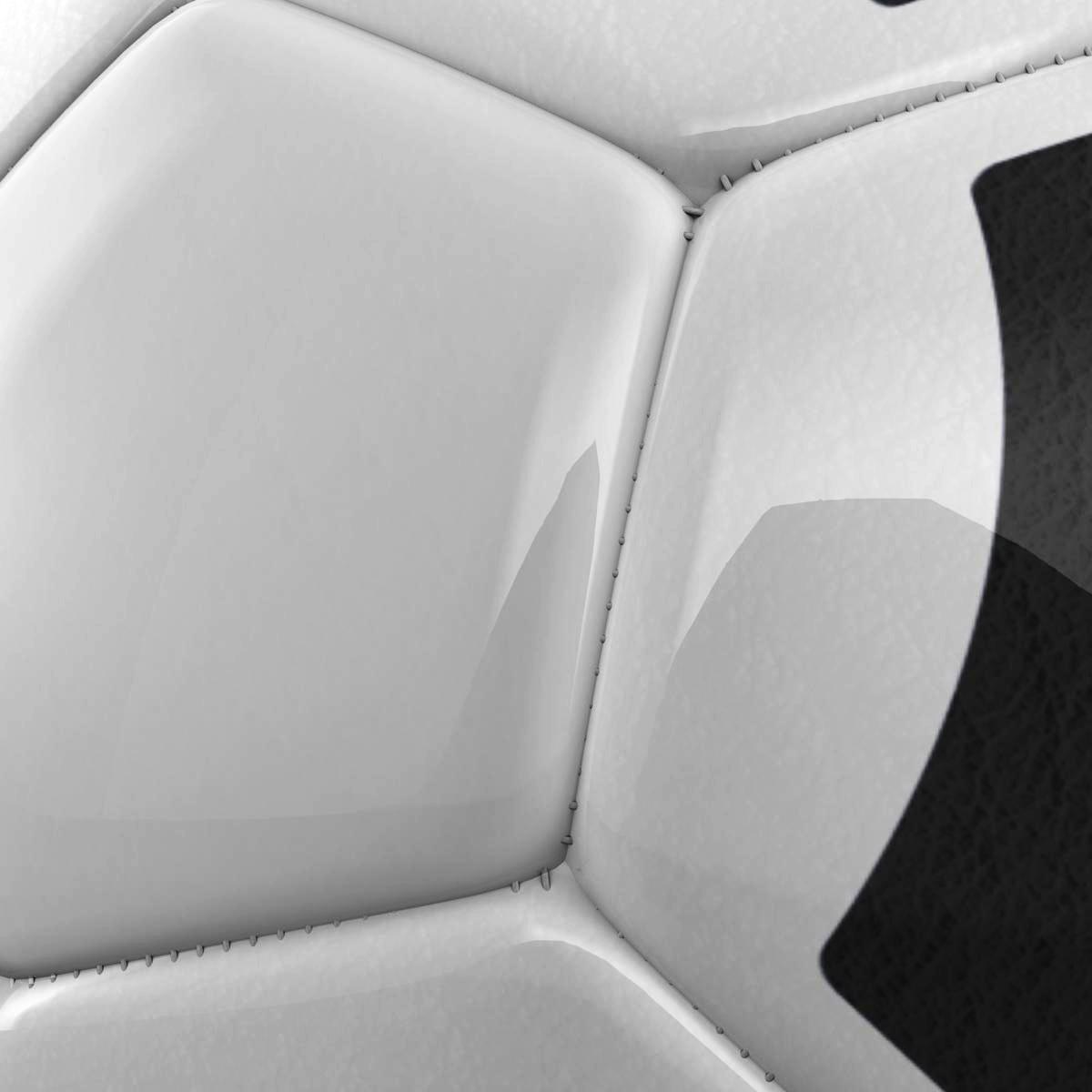 soccerball хар цагаан tri 3d загвар 3ds max fbx c4d ma mb obj 204052