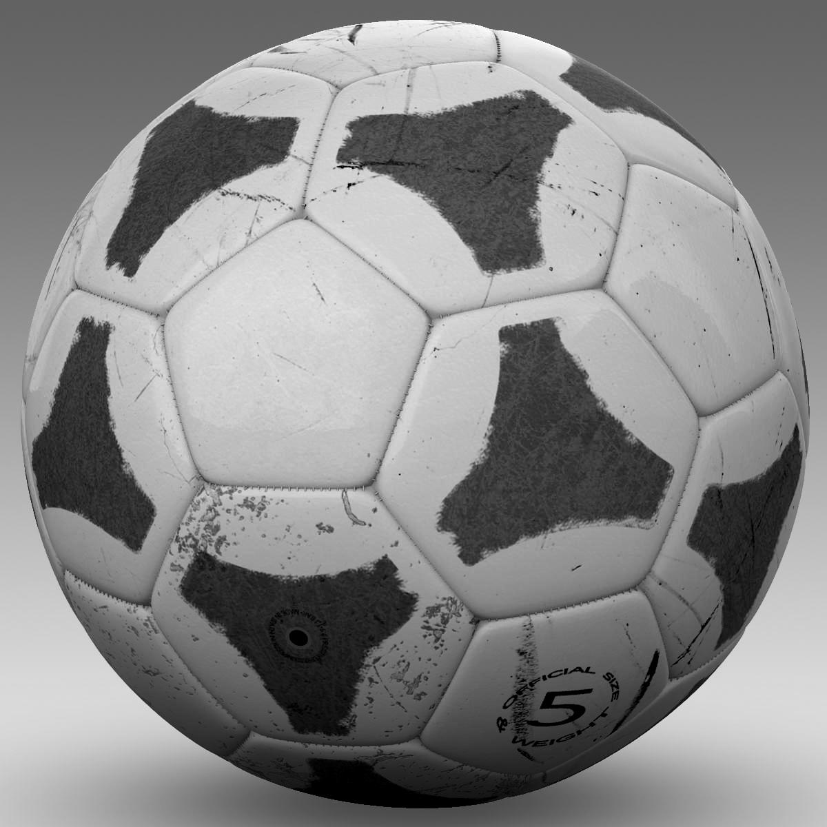 soccerball хар цагаан tri 3d загвар 3ds max fbx c4d ma mb obj 204053