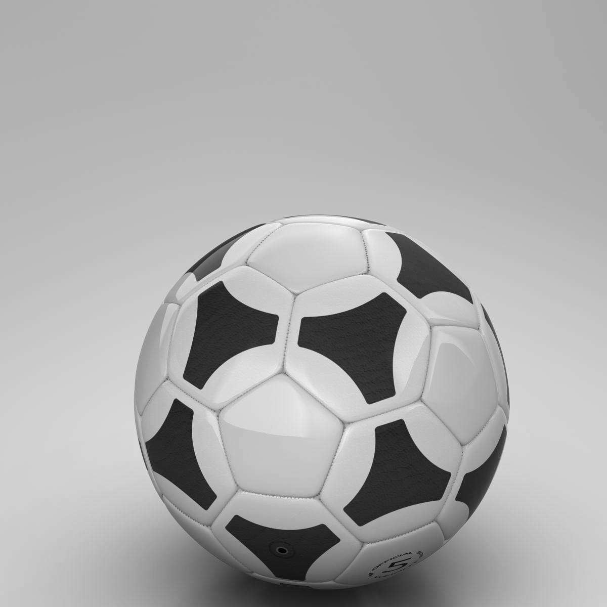 soccerball хар цагаан tri 3d загвар 3ds max fbx c4d ma mb obj 204054