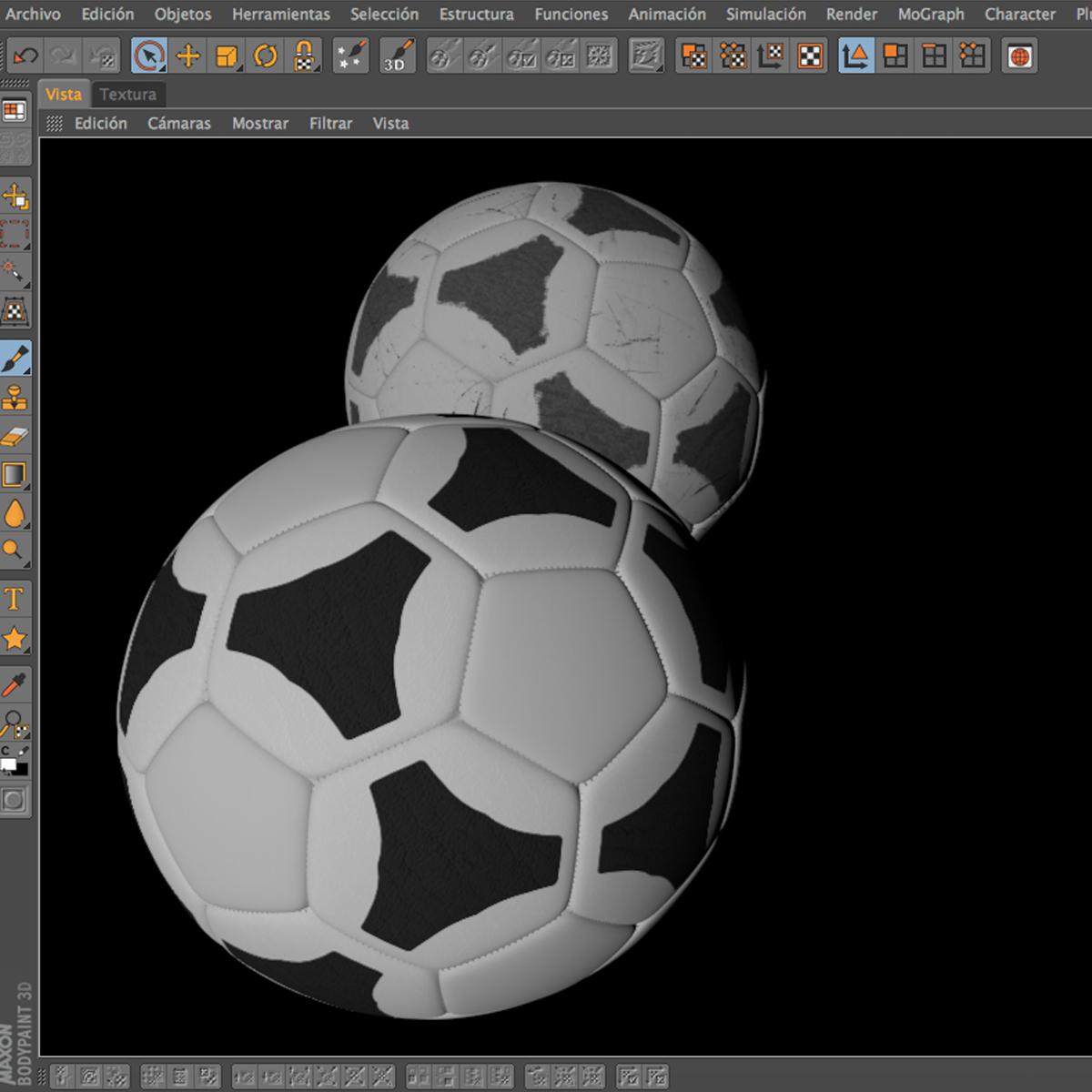 soccerball хар цагаан tri 3d загвар 3ds max fbx c4d ma mb obj 204057