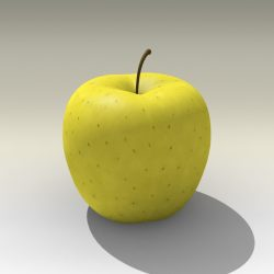 Photorealistic Yellow Apple ( 181.06KB jpg by NoNgon )