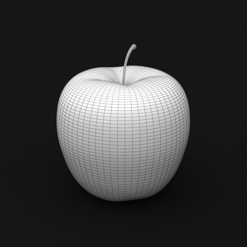 photorealistic yellow apple 3d model 3ds max fbx c4d lwo obj 204067