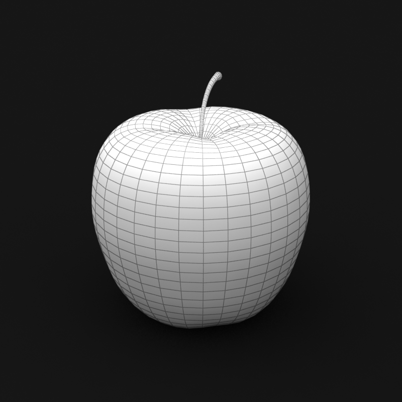 photorealistic yellow apple 3d model 3ds max fbx c4d lwo obj 204068