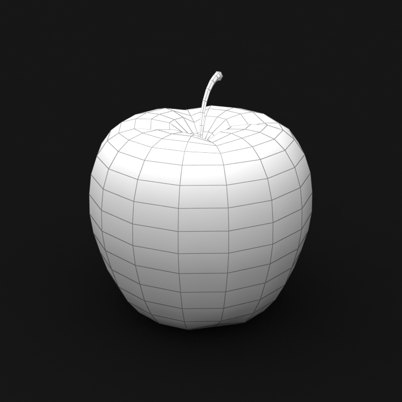photorealistic yellow apple 3d model 3ds max fbx c4d lwo obj 204069