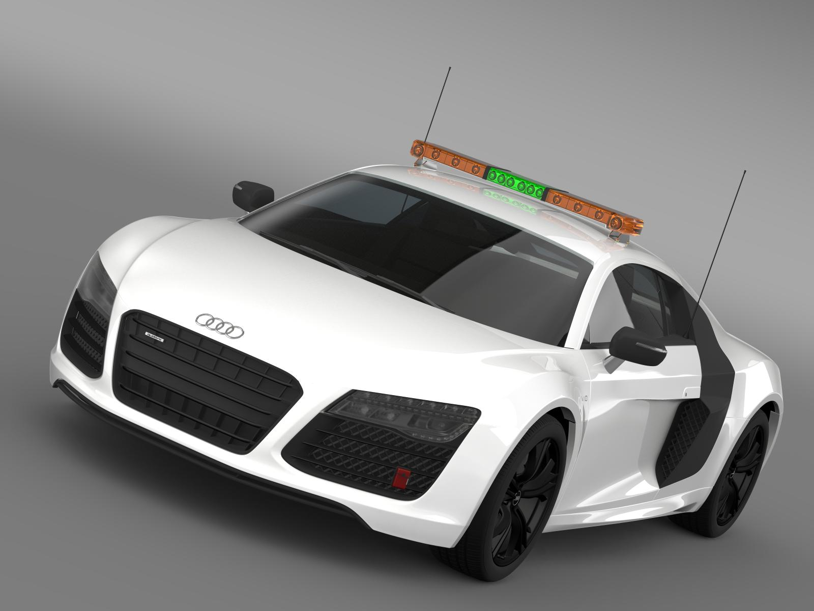 audi r8 v10plus safety car 3d model 3ds max fbx c4d lwo ma mb hrc xsi obj 204076