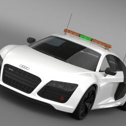 Audi R8 V10plus Safety Car 3d model 3ds max fbx c4d lwo lws lw ma mb  obj