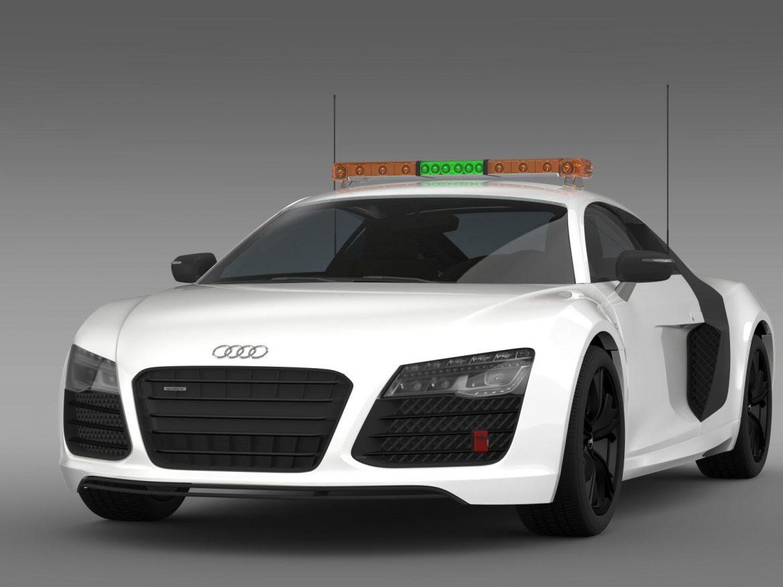 audi r8 v10plus safety car 3d model 3ds max fbx c4d lwo ma mb hrc xsi obj 204078