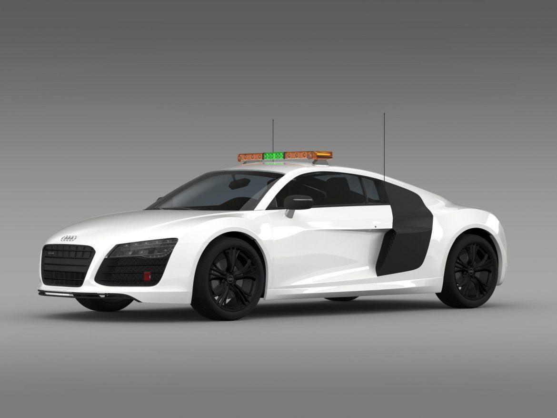 audi r8 v10plus safety car 3d model 3ds max fbx c4d lwo ma mb hrc xsi obj 204080