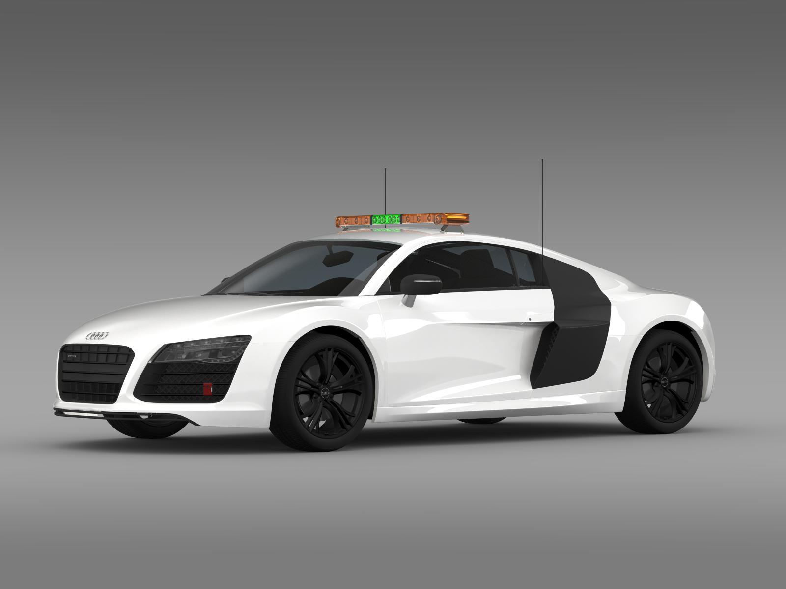 audi r8 v10plus safety car 3d model flatpyramid. Black Bedroom Furniture Sets. Home Design Ideas