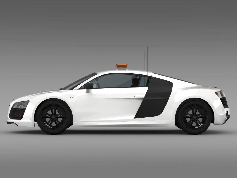 audi r8 v10plus safety car 3d model 3ds max fbx c4d lwo ma mb hrc xsi obj 204081