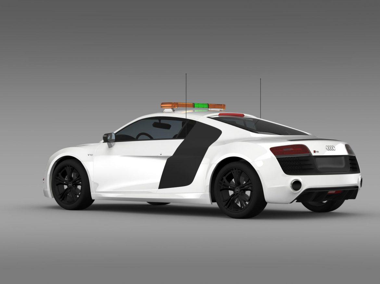 audi r8 v10plus safety car 3d model 3ds max fbx c4d lwo ma mb hrc xsi obj 204082