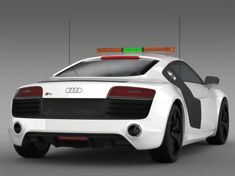 audi r8 v10plus safety car 3d model 3ds max fbx c4d lwo ma mb hrc xsi obj 204084