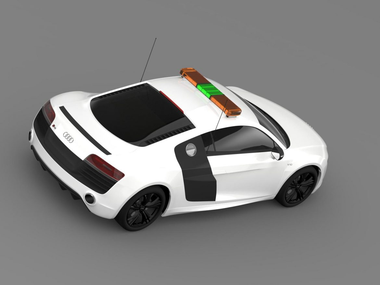 audi r8 v10plus safety car 3d model 3ds max fbx c4d lwo ma mb hrc xsi obj 204085