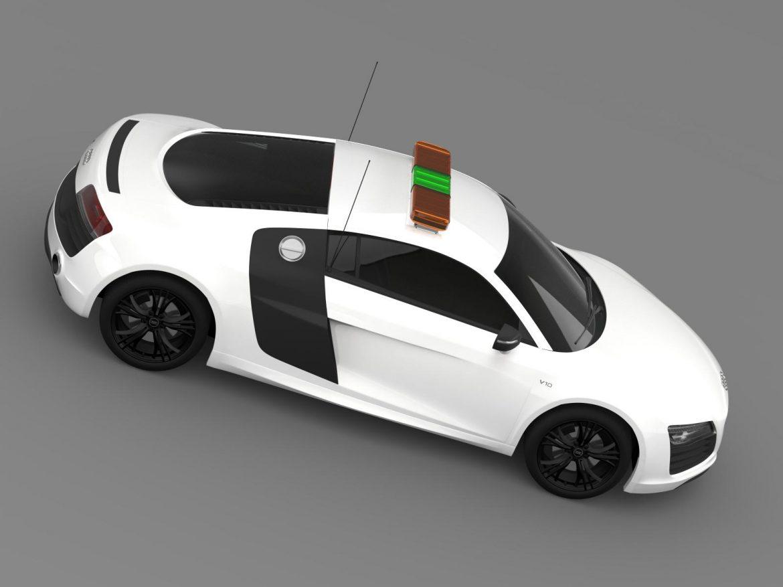audi r8 v10plus safety car 3d model 3ds max fbx c4d lwo ma mb hrc xsi obj 204086