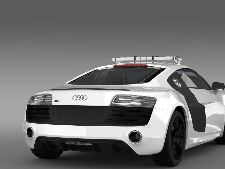 audi r8 v10plus safety car 3d model 3ds max fbx c4d lwo ma mb hrc xsi obj 204090
