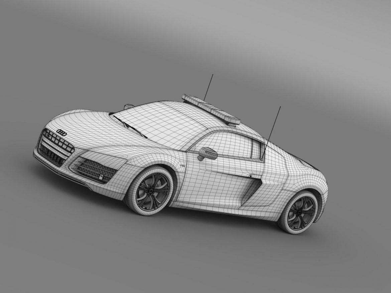 audi r8 v10plus safety car 3d model 3ds max fbx c4d lwo ma mb hrc xsi obj 204091