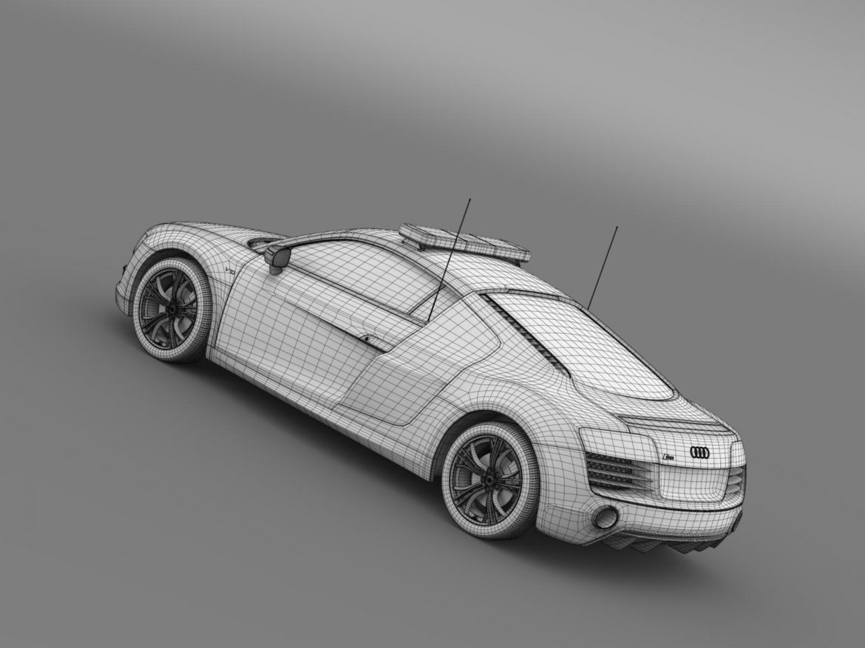 audi r8 v10plus safety car 3d model 3ds max fbx c4d lwo ma mb hrc xsi obj 204093