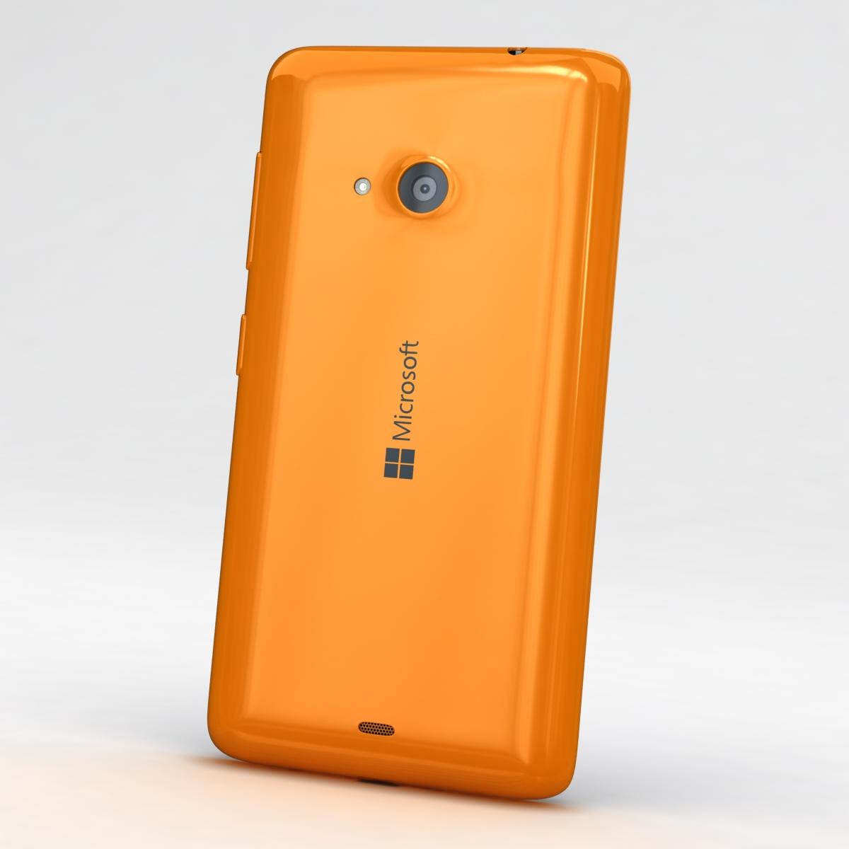 microsoft lumia 535 and dual sim orange 3d model 3ds max fbx c4d obj 204107