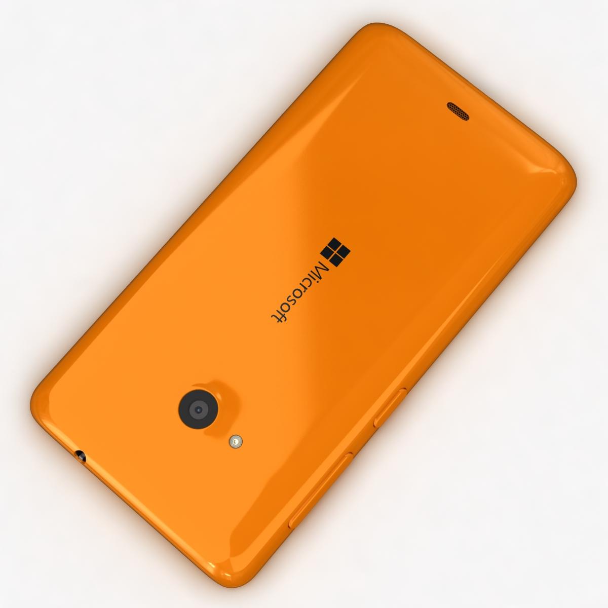 microsoft lumia 535 and dual sim orange 3d model 3ds max fbx c4d obj 204112