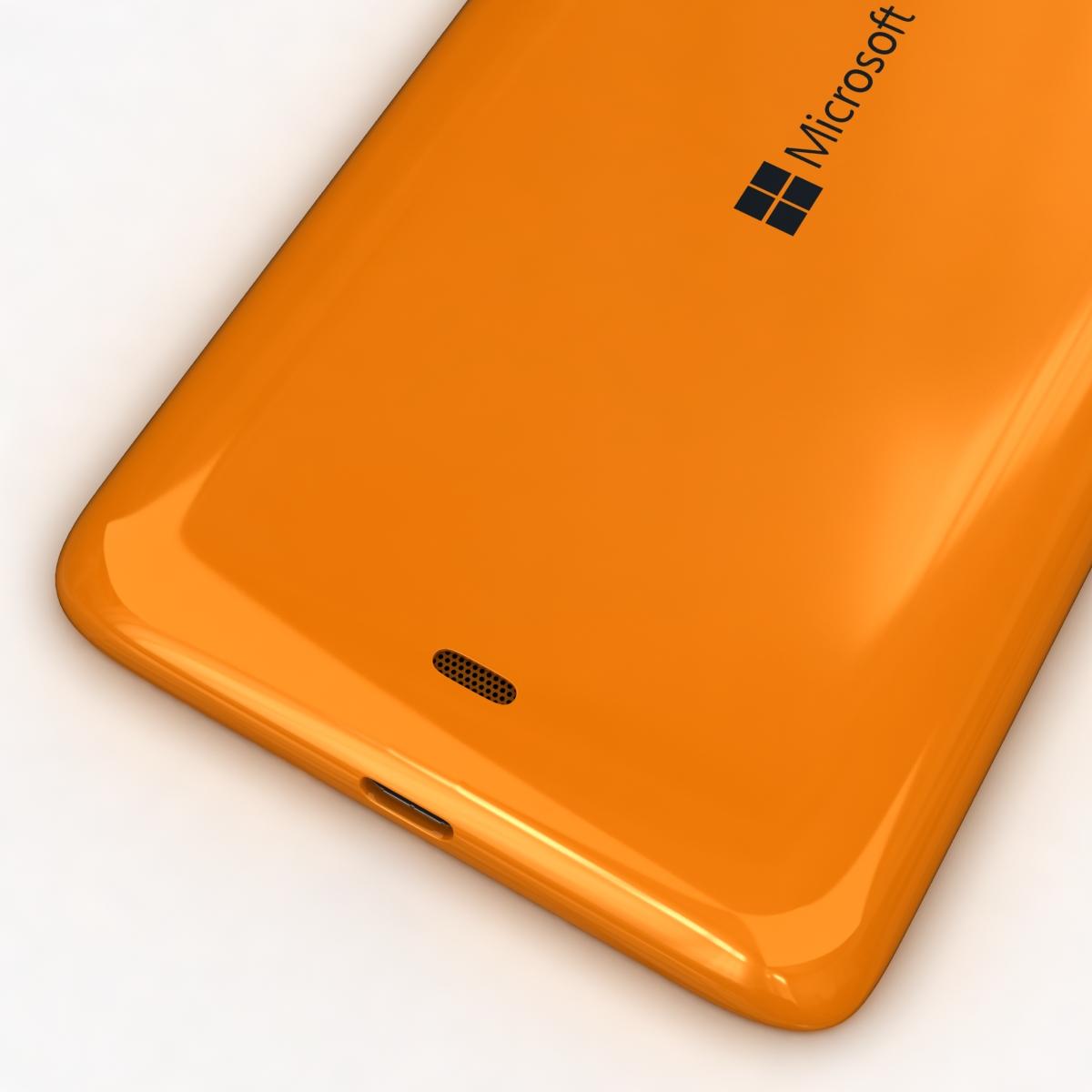 microsoft lumia 535 and dual sim orange 3d model 3ds max fbx c4d obj 204114