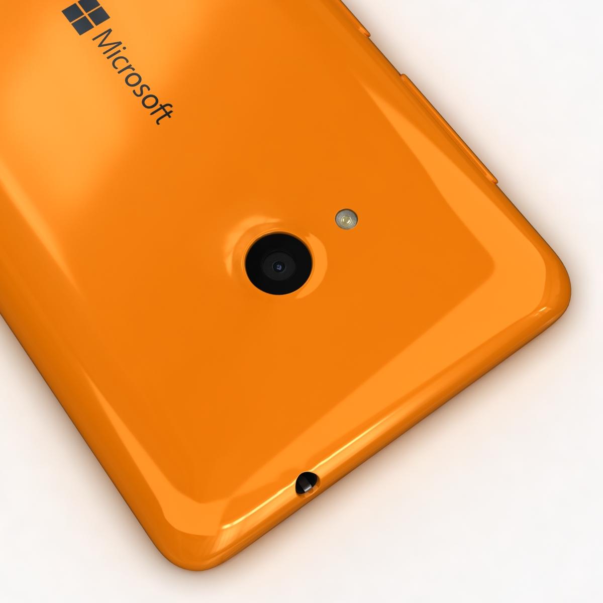 microsoft lumia 535 and dual sim orange 3d model 3ds max fbx c4d obj 204115