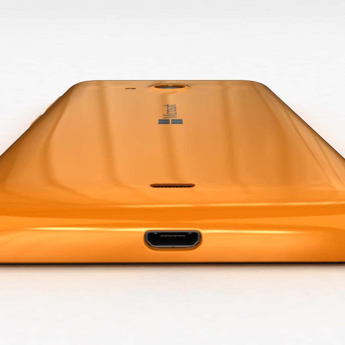 microsoft lumia 535 and dual sim orange 3d model 3ds max fbx c4d obj 204116