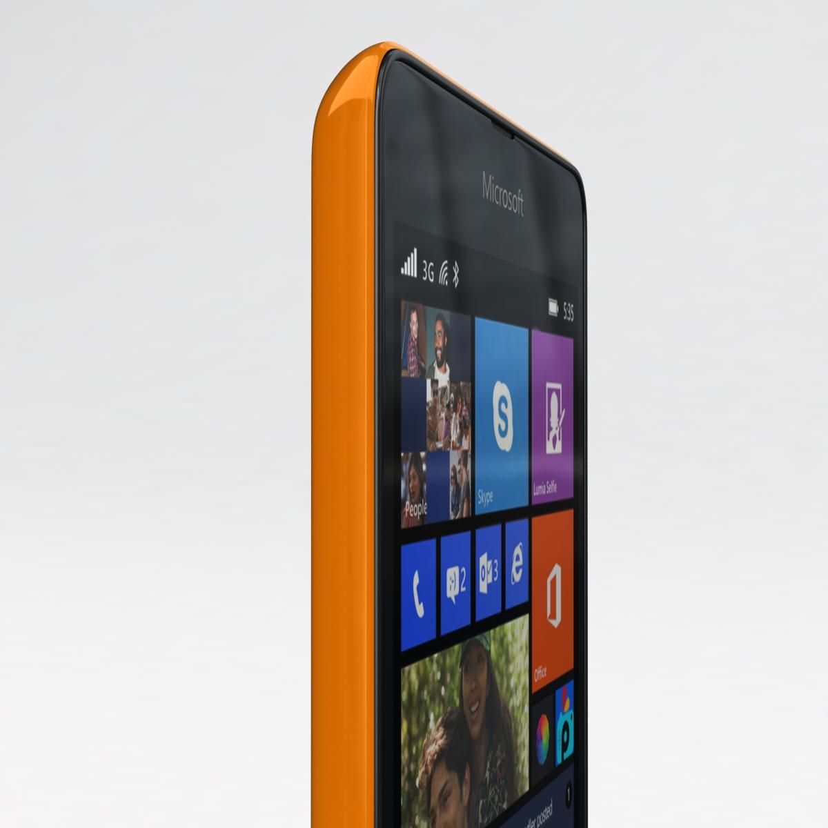 microsoft lumia 535 and dual sim orange 3d model 3ds max fbx c4d obj 204119