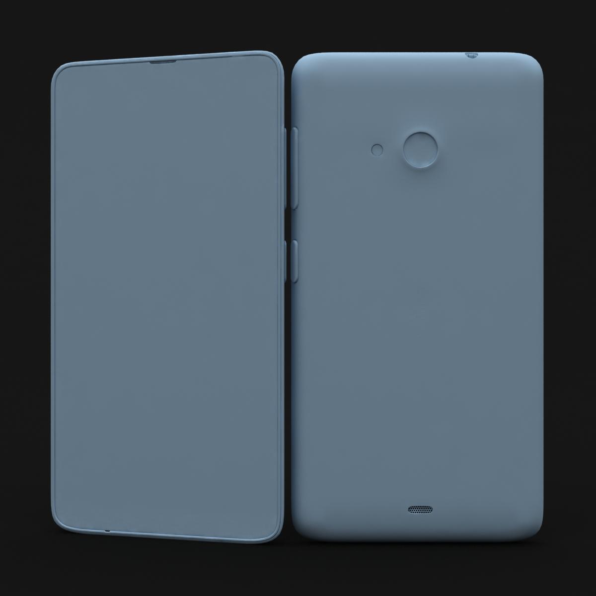 microsoft lumia 535 and dual sim orange 3d model 3ds max fbx c4d obj 204126
