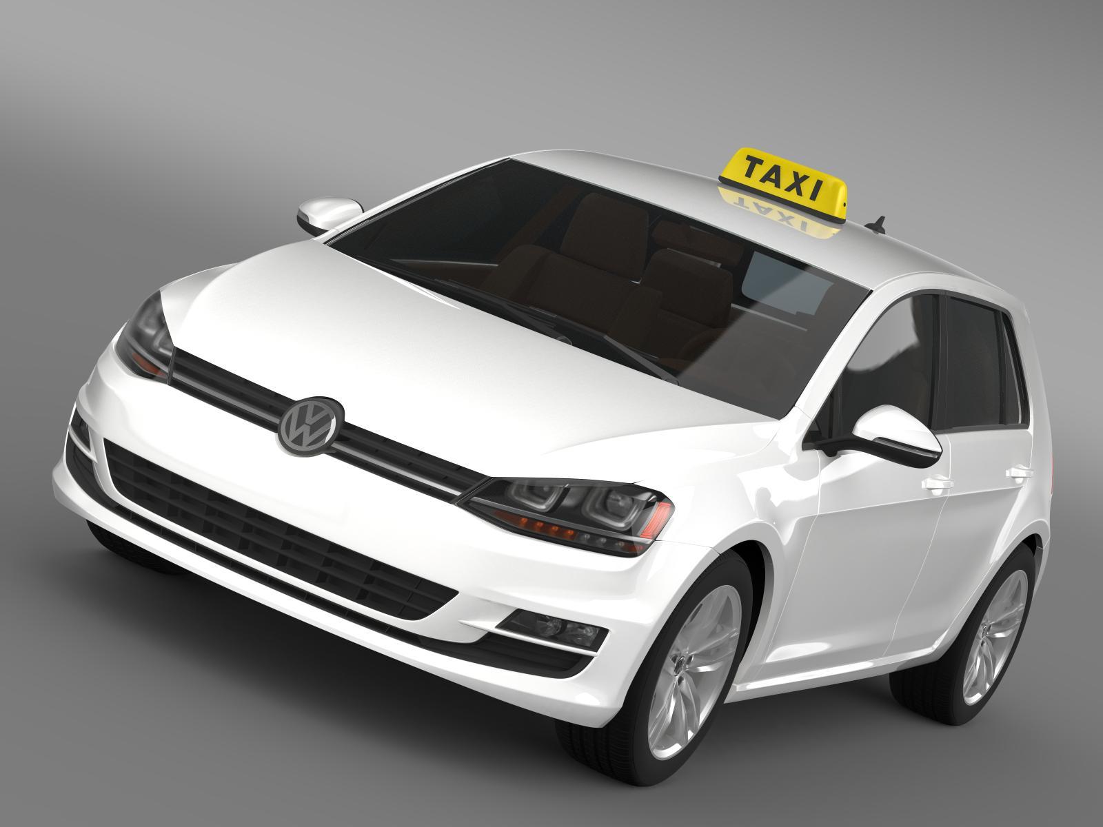 Volkswagen golf tsi leigubíl 3d líkan 3ds hámark fbx c4d lwo m mb hrc xsi obj 204144