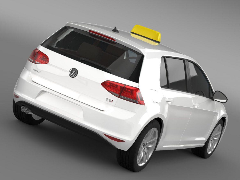 volkswagen golf tsi taxi 3d model 3ds max fbx c4d lwo ma mb hrc xsi obj 204145