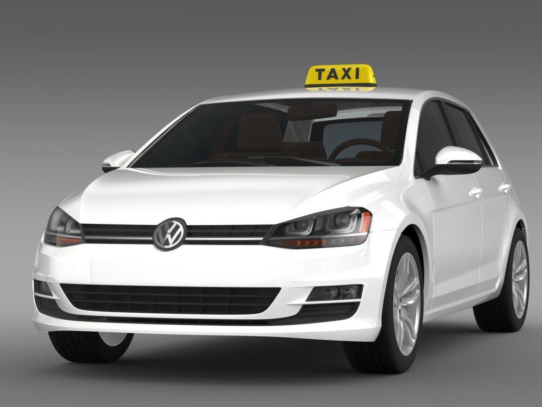 volkswagen golf tsi taxi 3d model 3ds max fbx c4d lwo ma mb hrc xsi obj 204146