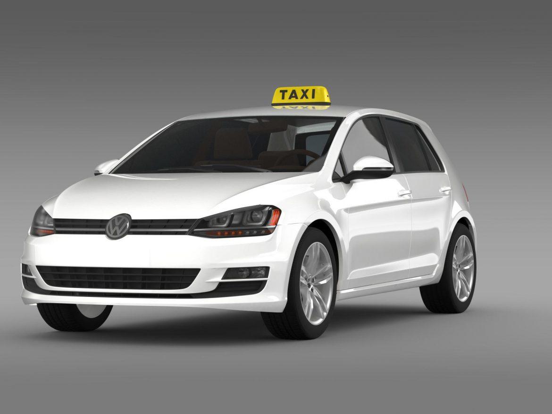 volkswagen golf tsi taxi 3d model 3ds max fbx c4d lwo ma mb hrc xsi obj 204147