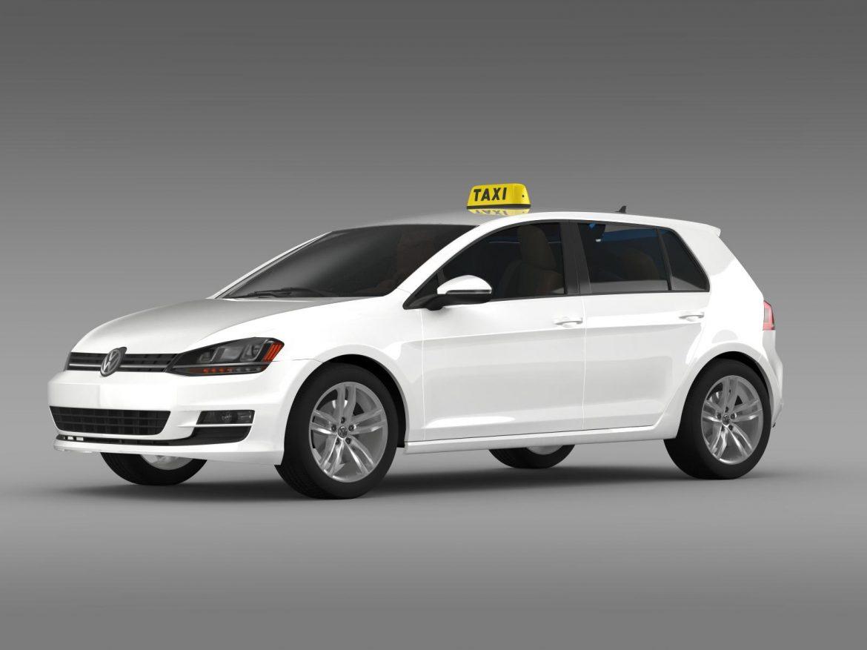 volkswagen golf tsi taxi 3d model 3ds max fbx c4d lwo ma mb hrc xsi obj 204148