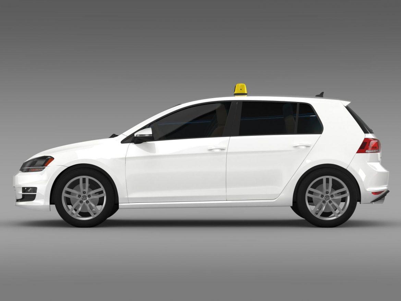 volkswagen golf tsi taxi 3d model 3ds max fbx c4d lwo ma mb hrc xsi obj 204149