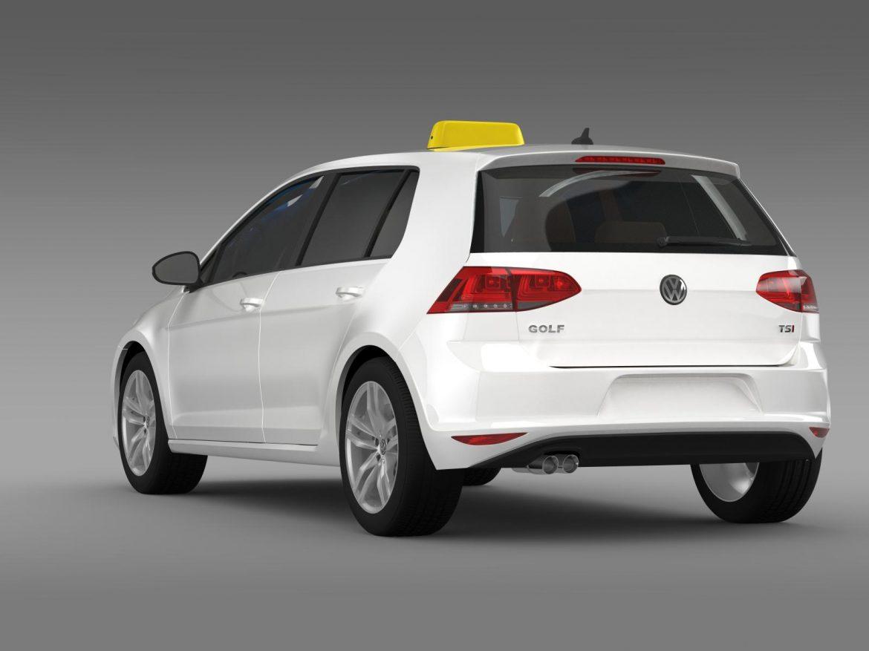 volkswagen golf tsi taxi 3d model 3ds max fbx c4d lwo ma mb hrc xsi obj 204151
