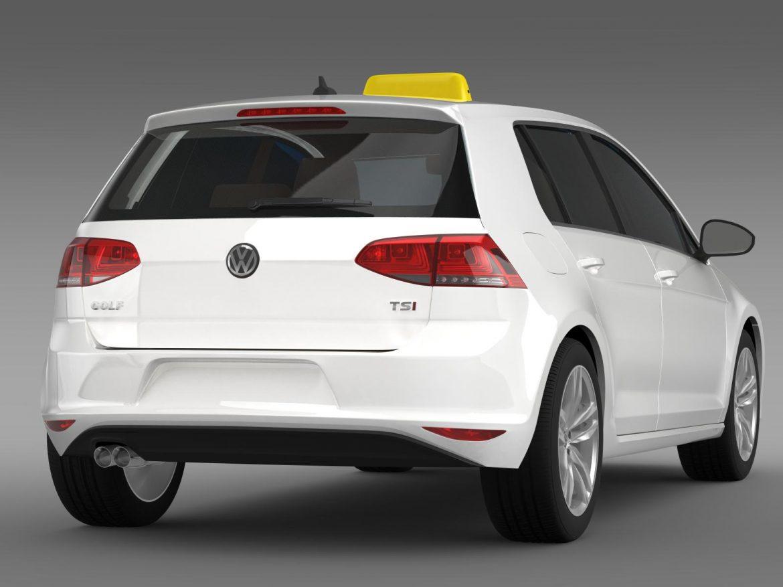 volkswagen golf tsi taxi 3d model 3ds max fbx c4d lwo ma mb hrc xsi obj 204152